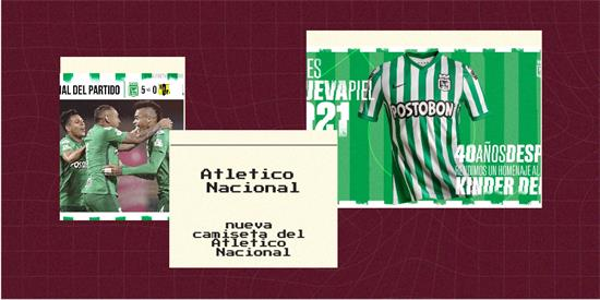 Atletico Nacional   Camiseta Atletico Nacional replica 2021 2022