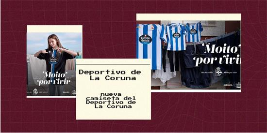 Deportivo de La Coruna Camiseta   Camiseta Deportivo de La Coruna replica 2021 2022