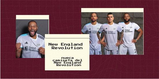 New England Revolution   Camiseta New England Revolution replica 2021 2022