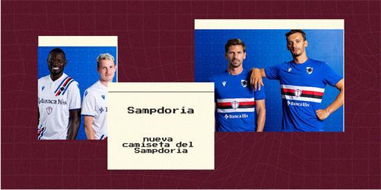Sampdoria   Camiseta Sampdoria replica 2021 2022